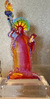 Statue of Liberty IX Acrylic Sculpture 2017 12 in Sculpture by Peter Max - 4