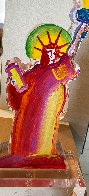 Statue of Liberty IX Acrylic Sculpture 2017 12 in Sculpture by Peter Max - 2