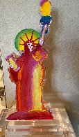 Statue of Liberty IX Acrylic Sculpture 2017 12 in Sculpture by Peter Max - 3