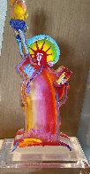 Statue of Liberty IX Acrylic Sculpture 2017 12 in Sculpture by Peter Max - 0