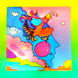 Woodstock Series: Profile on Blends    Unique 2006 25x24 Works on Paper (not prints) by Peter Max