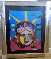 Liberty Head Unique 2005 43x36 Huge Works on Paper (not prints) by Peter Max - 1