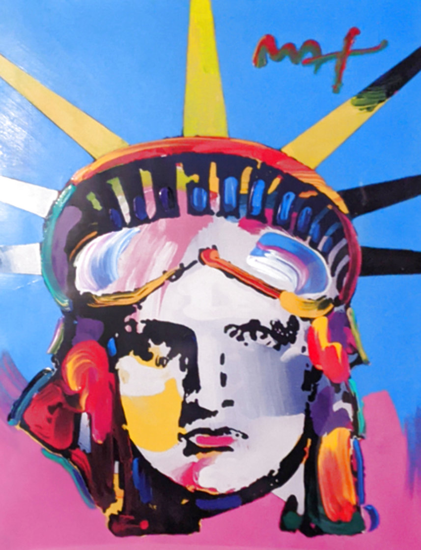 Liberty Head Unique 2005 43x36 Huge Works on Paper (not prints) by Peter Max