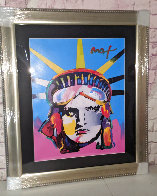 Liberty Head Unique 2005 43x36 Huge Works on Paper (not prints) by Peter Max - 2