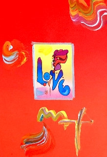 Love Unique 20x23 Works on Paper (not prints) - Peter Max