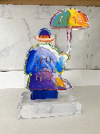 Umbrella Man Version I Unique Acrylic Sculpture  2018 12 in Sculpture by Peter Max - 4