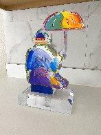Umbrella Man Version I Unique Acrylic Sculpture  2018 12 in Sculpture by Peter Max - 2
