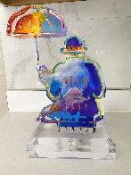 Umbrella Man Version I Unique Acrylic Sculpture  2018 12 in Sculpture by Peter Max - 3