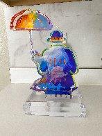 Umbrella Man Version I Unique Acrylic Sculpture  2018 12 in Sculpture by Peter Max - 5