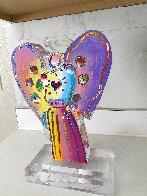 Angel With Heart Acrylic Sculpture Unique 2017 12 in Sculpture by Peter Max - 5