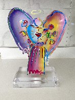 Angel With Heart Acrylic Sculpture Unique 2017 12 in Sculpture by Peter Max - 1