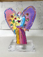 Angel With Heart Acrylic Sculpture Unique 2017 12 in Sculpture by Peter Max - 2