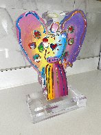 Angel With Heart Acrylic Sculpture Unique 2017 12 in Sculpture by Peter Max - 3