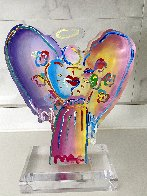 Angel With Heart Acrylic Sculpture Unique 2017 12 in Sculpture by Peter Max - 4