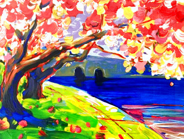 Cherry Blossom 2016 Limited Edition Print - Peter Max