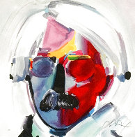 Andy with Mustache 1997 Limited Edition Print by Peter Max - 0
