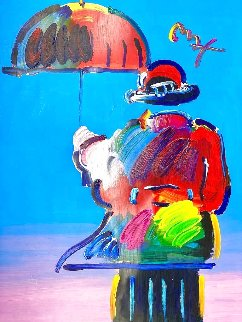 Umbrella Man 36x24 Works on Paper (not prints) - Peter Max