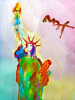 Statue of Liberty 49x31 Super Huge Works on Paper (not prints) - Peter Max
