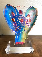 Acrylic Angel Statue Unique 2016 11 in Sculpture by Peter Max - 1