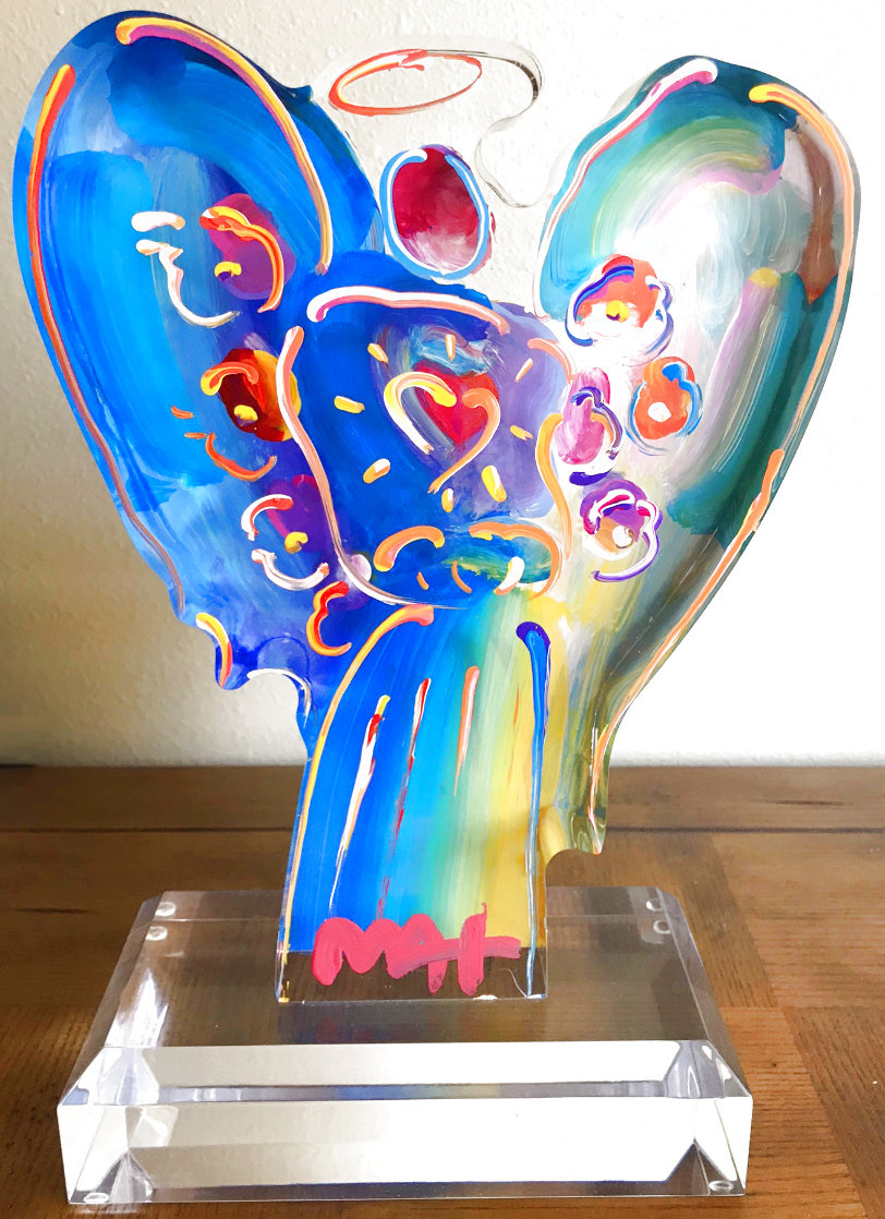 Acrylic Angel Statue Unique 2016 11 in Sculpture by Peter Max
