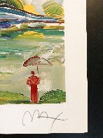 Umbrella Man At Sunrise Limited Edition Print by Peter Max - 2