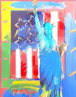 Full Liberty Unique 2006 34x30 Works on Paper (not prints) - Peter Max