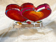 Two Hearts Ver. II Acrylic Sculpture Unique 2014 16 in Sculpture by Peter Max - 7