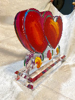 Two Hearts Ver. II Acrylic Sculpture Unique 2014 16 in Sculpture by Peter Max - 6
