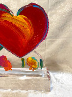Two Hearts Ver. II Acrylic Sculpture Unique 2014 16 in Sculpture by Peter Max - 5
