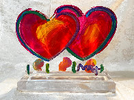 Two Hearts Ver. II Acrylic Sculpture Unique 2014 16 in Sculpture by Peter Max - 2