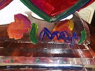 Two Hearts Ver. II Acrylic Sculpture Unique 2014 16 in Sculpture by Peter Max - 8