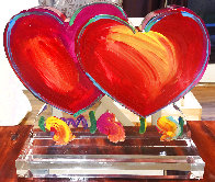 Two Hearts Ver. II Acrylic Sculpture Unique 2014 16 in Sculpture by Peter Max - 3