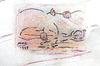 Sailing Pastel 1993 8x10 Works on Paper (not prints) by Peter Max - 10