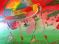 Zero and Profile III  From The Hermitage Museum Exhibition 1990 29x35 Original Painting by Peter Max - 2