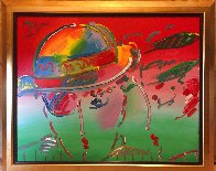 Zero and Profile III  From The Hermitage Museum Exhibition 1990 29x35 Original Painting by Peter Max - 1