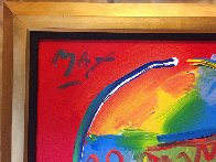 Zero and Profile III  From The Hermitage Museum Exhibition 1990 29x35 Original Painting by Peter Max - 3