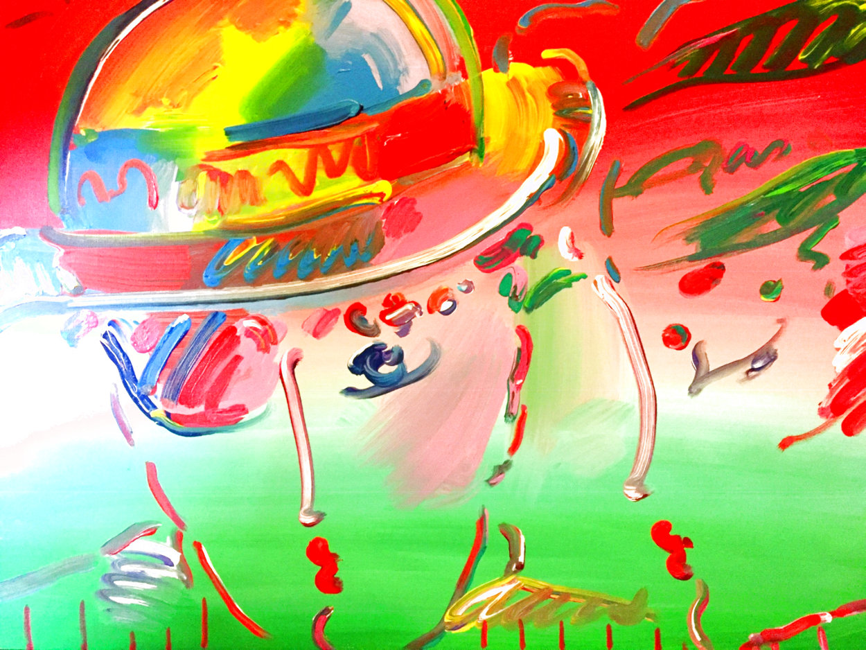 Zero and Profile III  From The Hermitage Museum Exhibition 1990 29x35 Original Painting by Peter Max