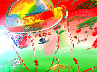 Zero and Profile III  From The Hermitage Museum Exhibition 1990 29x35 Original Painting by Peter Max - 0