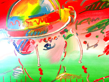 Zero and Profile III  From The Hermitage Museum Exhibition 1990 29x35 Original Painting - Peter Max
