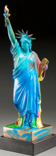 Statue Of Liberty Bronze Sculpture 1990 22 in  Sculpture - Peter Max