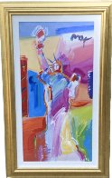 Statue of Liberty Unique 2001 49x30 Super Huge Works on Paper (not prints) by Peter Max - 1