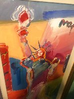 Statue of Liberty Unique 2001 49x30 Super Huge Works on Paper (not prints) by Peter Max - 2