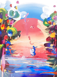 Better World III 1999 36x30 Works on Paper (not prints) - Peter Max