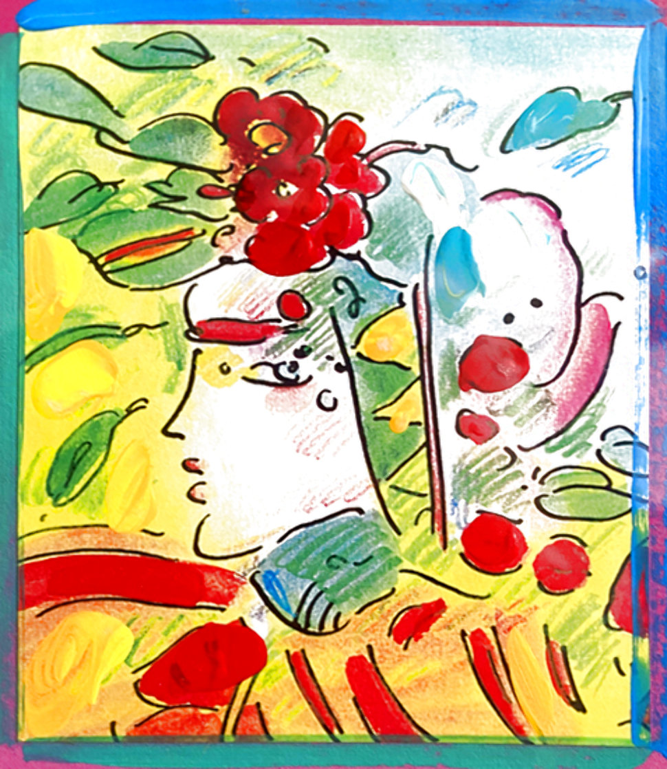 Profile Series Unique 2005 Ver I  22x20 Works on Paper (not prints) by Peter Max