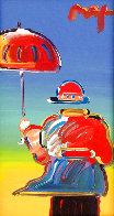 Umbrella Man  2012 12x6 Original Painting by Peter Max - 0