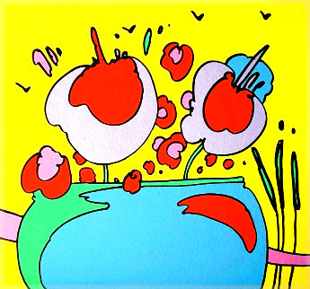 Flowers of Atlantis PP 1972 Limited Edition Print - Peter Max