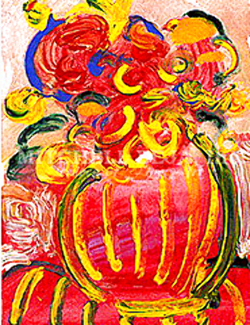 Vase of Flowers V (Mini) Limited Edition Print by Peter Max