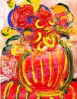 Vase of Flowers V (Mini) Limited Edition Print by Peter Max - 0