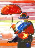 Umbrella Man on Blends Unique 2005 25x23 Works on Paper (not prints) by Peter Max - 0