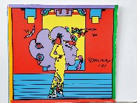 Atlantis Suite of 4 Mixed Media Prints Unique, 1971  Embellished Limited Edition Print by Peter Max - 6